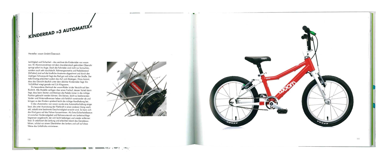 das woom 3 automatix im Buch Bikes! Das Fahrrad neu erfinden.