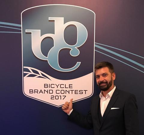 Christian Bezdeka von woom beim Bicycle Brand Contest 2017